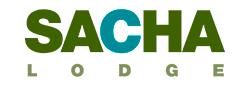 The Sacha Lodge Logo