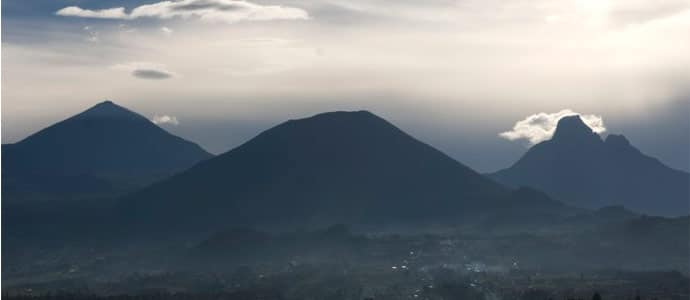 Virunga Mountains in Rwanda