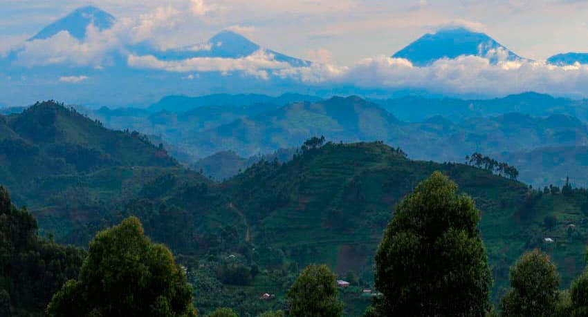Nkuringo Area, Uganda - View from Nkuringo Gorilla Lodge