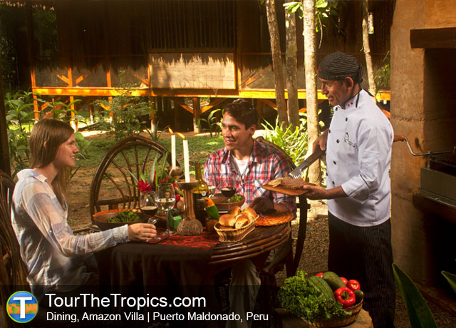 Amazon Villa Dining - Peru's Amazon Rainforest