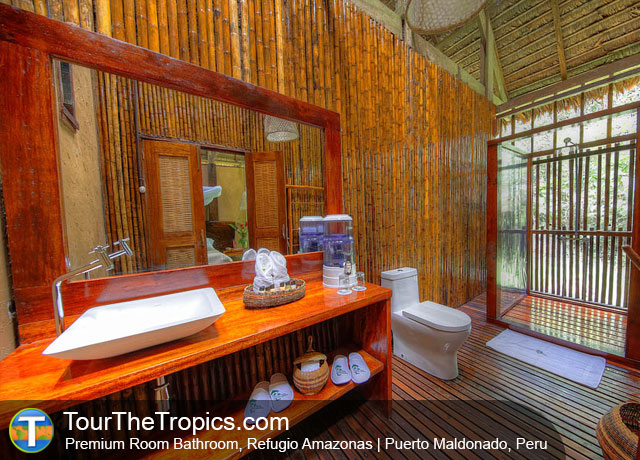 Bathroom at Refugio Amazonas, Tambopata National Reserve, Peru