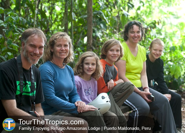Family at Refugio Amazonas Lodge, Tambopata National Reserve, Peru