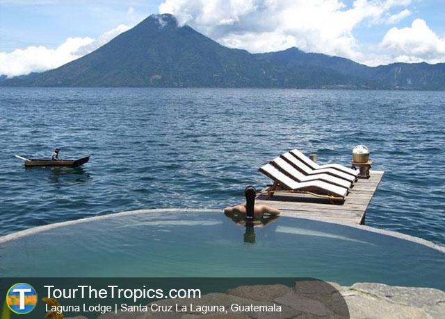 Laguna Lodge pool, Guatemala