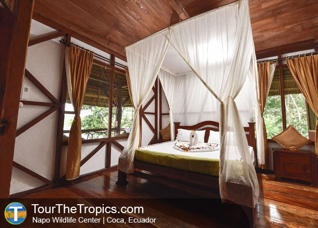 Bedroom, Luxury Napo Wildlife Center, Ecuador