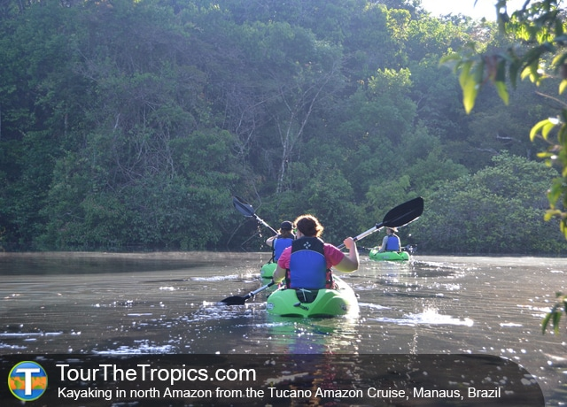 Kayaking from the Tucano Cruise, Manaus, Brazil