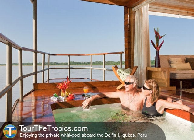 Private Whirl-pool, Delfin Cruise, Iquitos, Peru