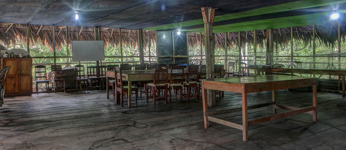 The Tahuayo Lodge Library & Study Area